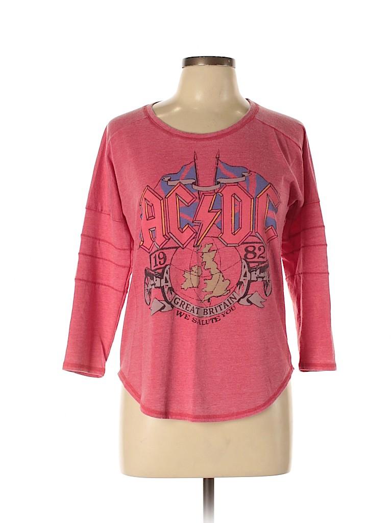 Lucky Brand Women 3/4 Sleeve T-Shirt Size M