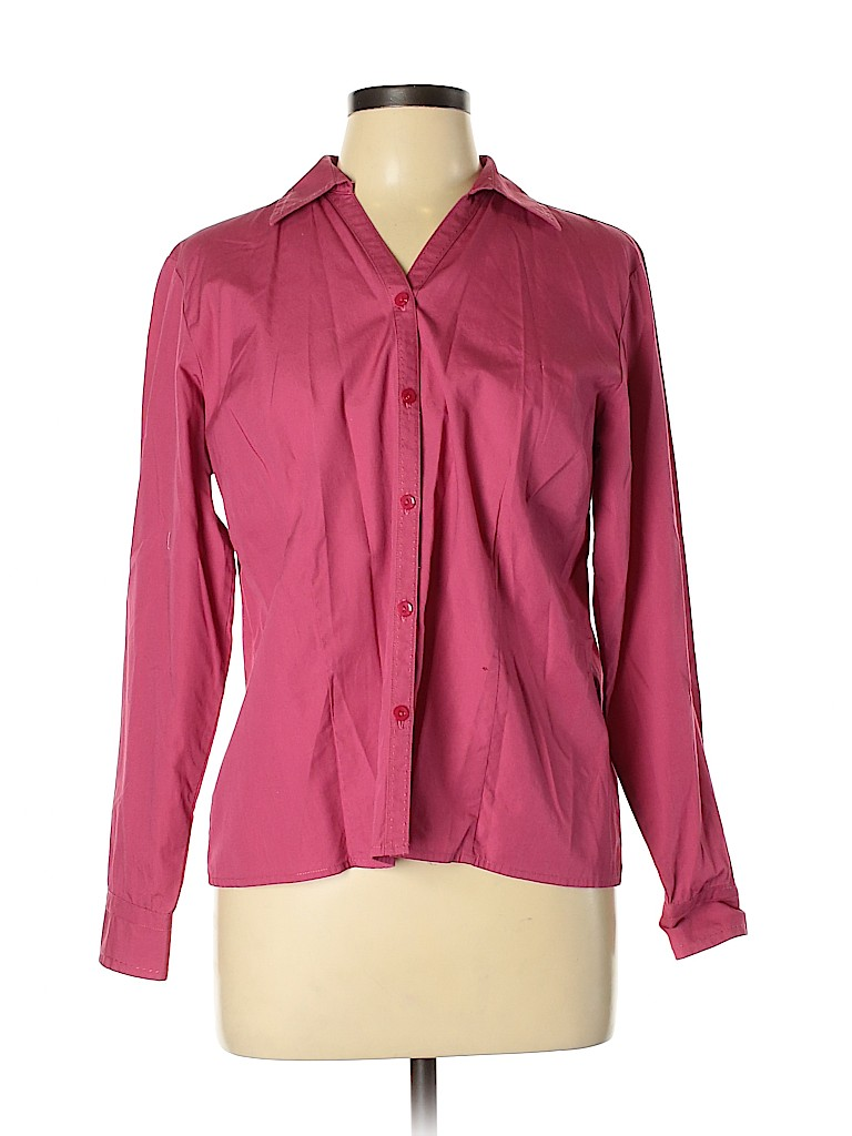 Style&Co Women Long Sleeve Button-Down Shirt Size 12