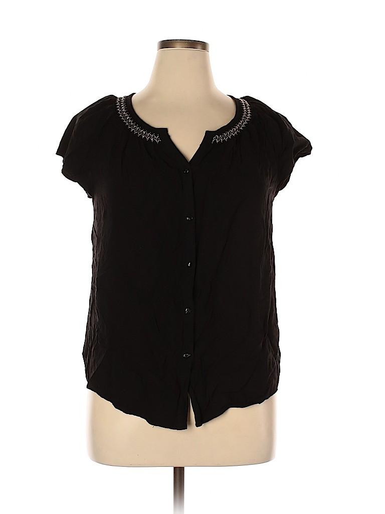 Faded Glory Women Short Sleeve Blouse Size 16 - 18